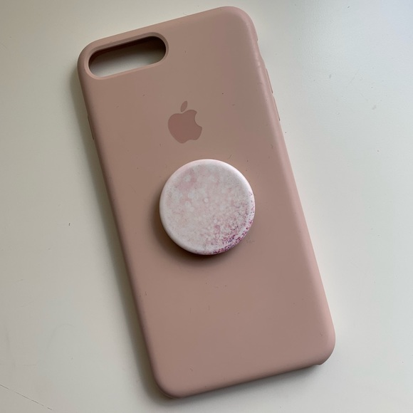 new concept a650c 7b69f iPhone 8 Plus Silicone Case - Pink Sand